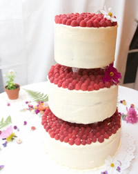 An Almond-Raspberry Wedding Cake