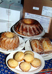 A selection of lemon cakes